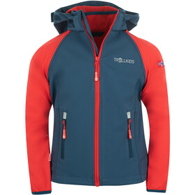 TROLLKIDS Rondane XT Zip Off Jas Kinderen, bright red/mystic blue